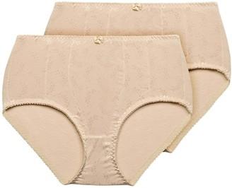 Exquisite Form Women's Medium Control Jacquard Shaper Brief Panty