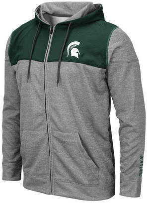 Colosseum Men Michigan State Spartans Nelson Full-Zip Hooded Sweatshirt