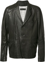 Haider Ackermann panelled jacket - men - Cotton/Leather - S