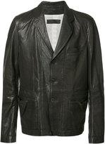 Haider Ackermann - panelled jacket - men - Cotton/Leather - S