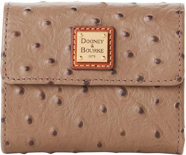 Dooney & Bourke Ostrich Small Flap Wallet