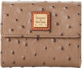 Dooney & Bourke Ostrich Small Flap Wallet