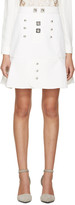 Peter Pilotto White & Silver Tessel Skirt