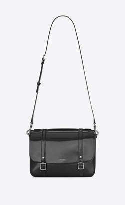 Saint Laurent High School Bag Schoolbag Satchel In Patent Leather Black Onesize