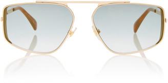 Givenchy Metal Aviator-Style Sunglasses