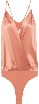 Mason by Michelle Mason Wrap-effect Silk-charmeuse Bodysuit