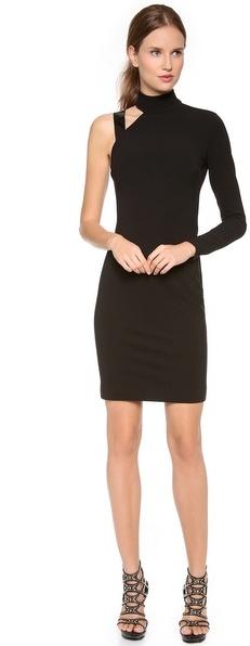 Versace Asymmetrical One Shoulder Dress