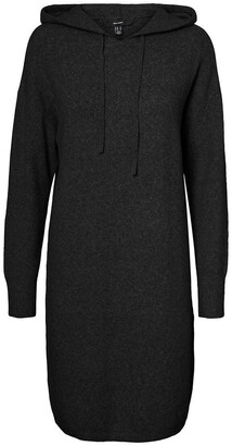 Vero Moda Recycled Hooded Jumper Dress