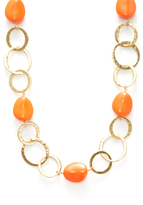 Kenneth Jay Lane Links & Pebble Station Necklace