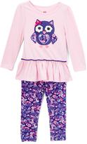 Kids Headquarters Pink Owl Tunic & Purple Leggings - Toddler & Girls