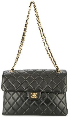 Chanel Pre Owned 1996-1997 quilted CC logos both sides flap shoulder bag