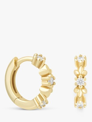 Astrid & Miyu Wreath Cubic Zirconia Small Hugger Hoop Earrings