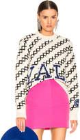Calvin Klein 205w39nyc CALVIN KLEIN 205W39NYC University Sweater in Ecru & Black | FWRD