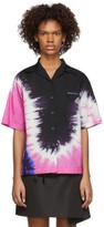 Prada Pink Tie-Dye Short Sleeve Shirt