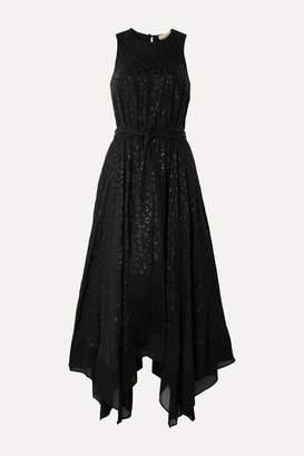 MICHAEL Michael Kors Leopard-jacquard Midi Dress - Black