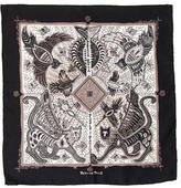 Hermes Legende Kuna Peuple De Panama Silk Pocket Square