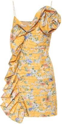Magda Butrym Asymmetric silk minidress