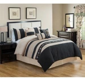 Luxlen Rachita 7 Piece Comforter Set, Cal King Bedding