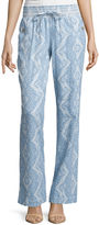 Tyte Jeans Rewash Linen Pull-On Pants