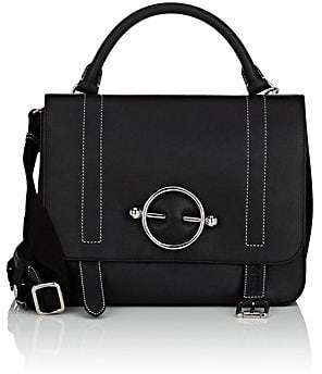 J.W.Anderson Women's Disc Leather & Suede Satchel - Black