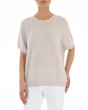 Peserico Short-Sleeve Knitted Sweater