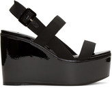 Jimmy Choo Black Nazil Wedge Sandals