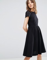 YMC Perforated Sleeve Skater Dress