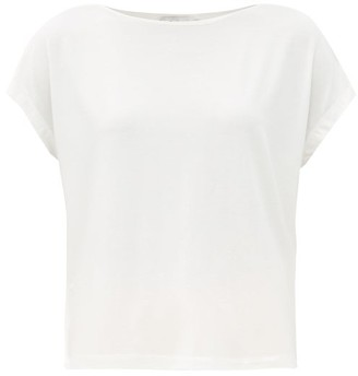 Ernest Leoty Ludivine Boat-neck Tencel-blend T-shirt - White