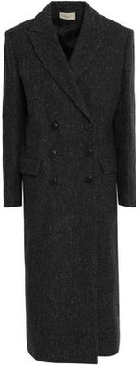 BA&SH Double-breasted Wool-blend Felt Coat