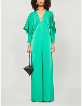 Victoria Beckham Raglan-sleeve satin maxi dress