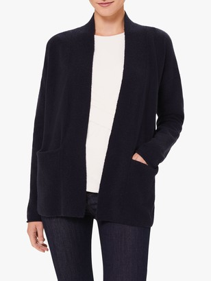 Hobbs Ayla Wool Blend Boucle Cardigan, French Blue