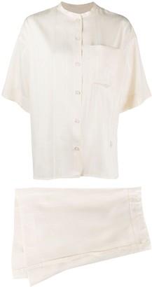 Jil Sander Silk Two-Piece Short Suit