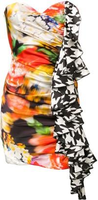 Giuseppe Di Morabito colour-block ruffle dress