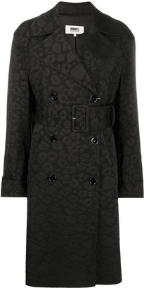 MM6 MAISON MARGIELA Leopard Print Jacquard-Woven Coat