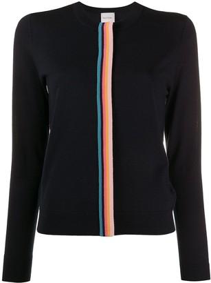 Paul Smith Contrast Stripe Knit Cardigan
