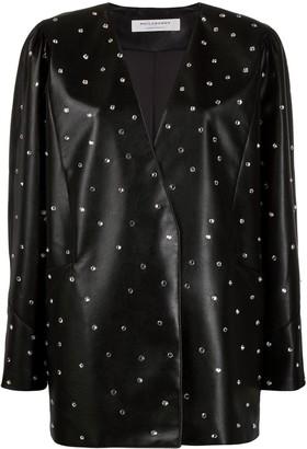 Philosophy di Lorenzo Serafini Embellished Leather Look Jacket