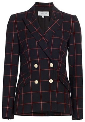 Derek Lam 10 Crosby Ady Double-Breasted Windowpane Blazer