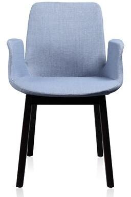 Skipworth Upholstered Arm Chair in Blue Brayden Studio