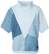 PRPS denim patchwork T-shirt - women - Cotton - XS
