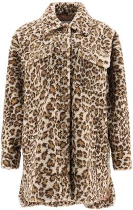 Stand Studio Sabi Leopard Print Jacket