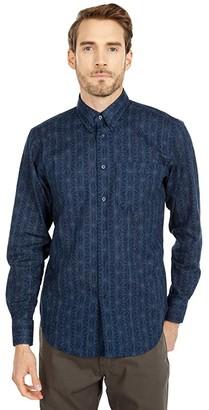 Naked & Famous Denim Easy Shirt in Kimono Pattern (Blue) Men's Clothing