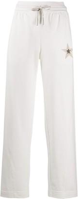 Lorena Antoniazzi star applique drawstring trousers