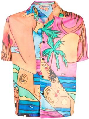 Esteban Cortazar Lady on the Beach short-sleeved shirt