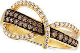 LeVian Le Vian Chocolatier® Diamond Statement Ring (1/2 ct. t.w.) in 14k Gold