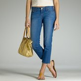 Cropped matchstick jean in vintage fade