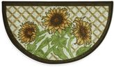 Bacova Sunflower Friends 18-Inch x 31.5-Inch Berber Kitchen Mat in Yellow/Green
