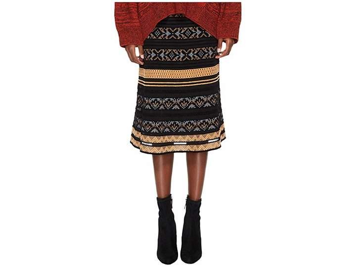 M Missoni Chenille Ribbon Knit Skirt Women's Skirt