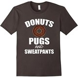 Women's FUNNY DONUTS PUGS SWEATPANTS T-SHIRT Dog Lovers Gift Medium