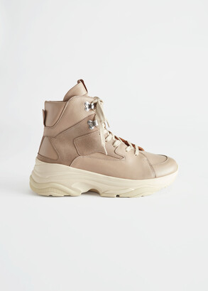 And other stories High Top Leather Sneakers