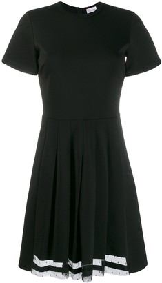 RED Valentino Short-Sleeve Pleated Dress